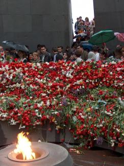 Genocide memorial day in Yerevan (April 2006)